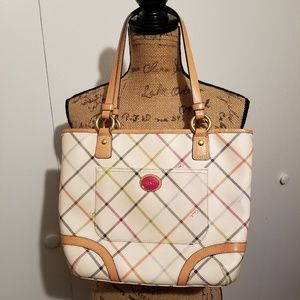 Coach Peyton Tattersall multicolored tote